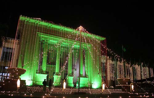 Punjab Assembly Building Decoration On Independence Day