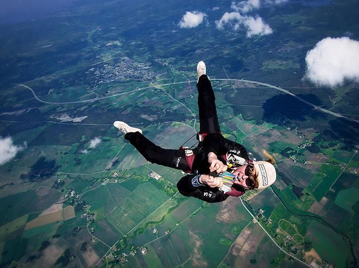 Taking Picture While Sky Diving