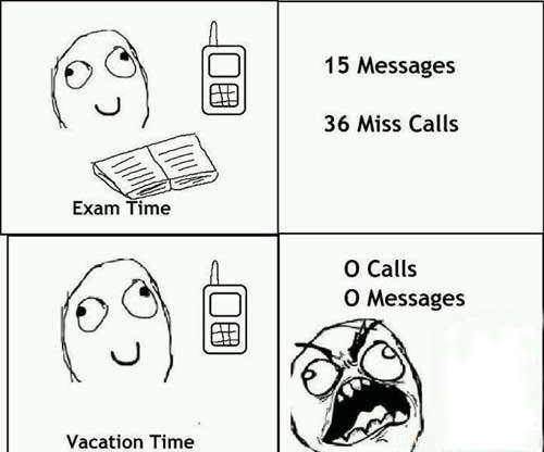 Exam Time And Vacation Time