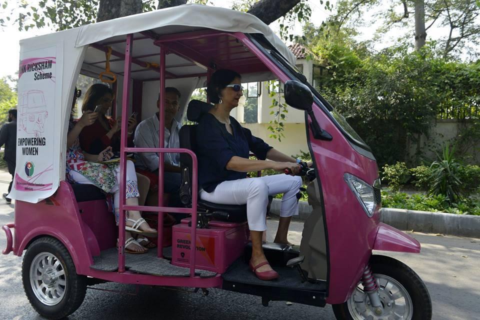 Pink Rickshaw For Women In Lahore Pakistan