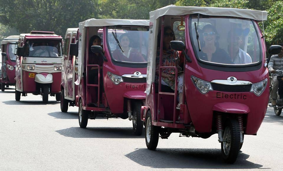 pink rickshaw is introduced by Zara Aslam