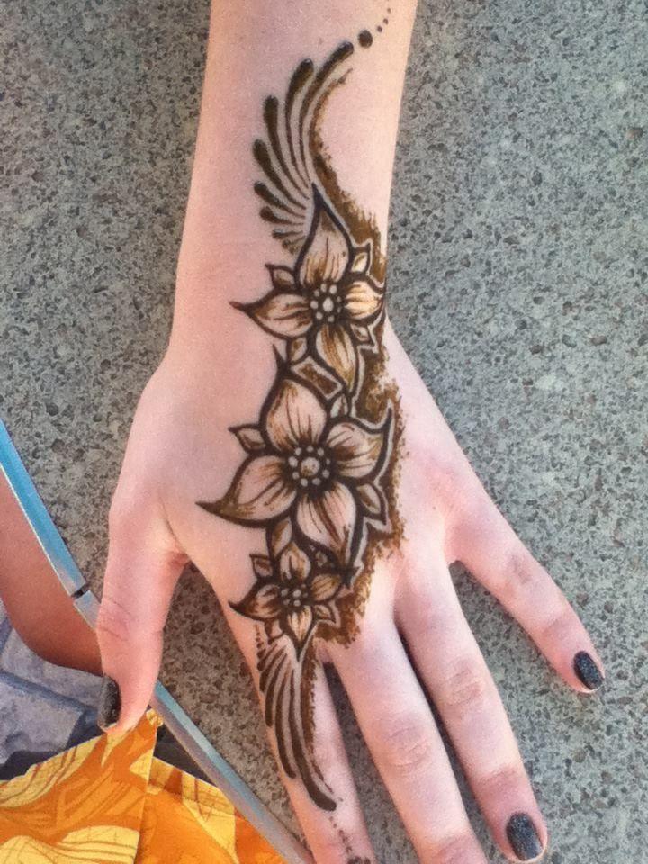 Simple Back Hand Mehndi Design