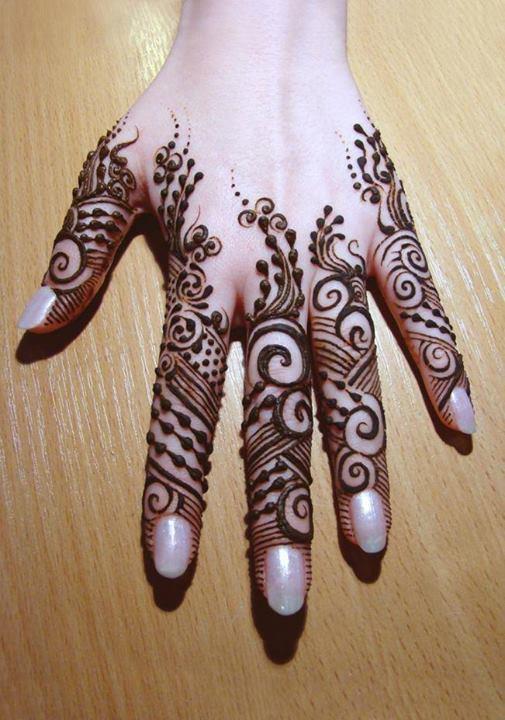 Mehndi Design For Fingers