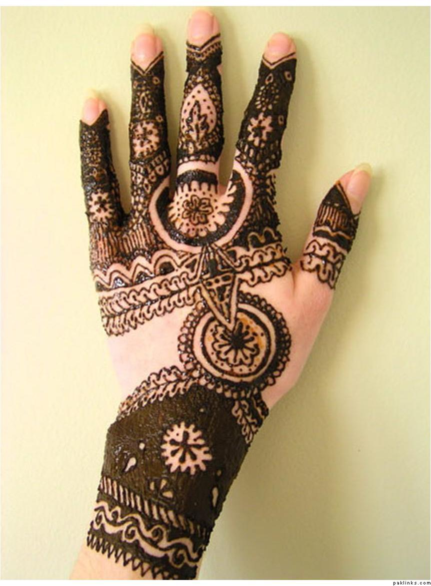 Simple Mehndi Designs For Hands Arabic Style