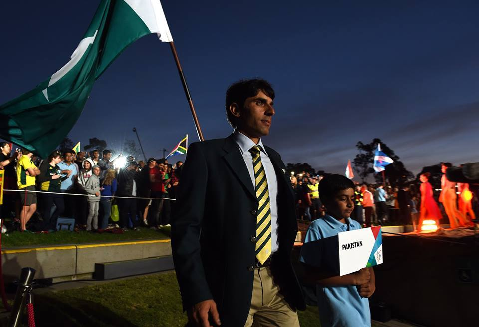 Misbah Ul Haq At WC 2015 Opening Ceremony