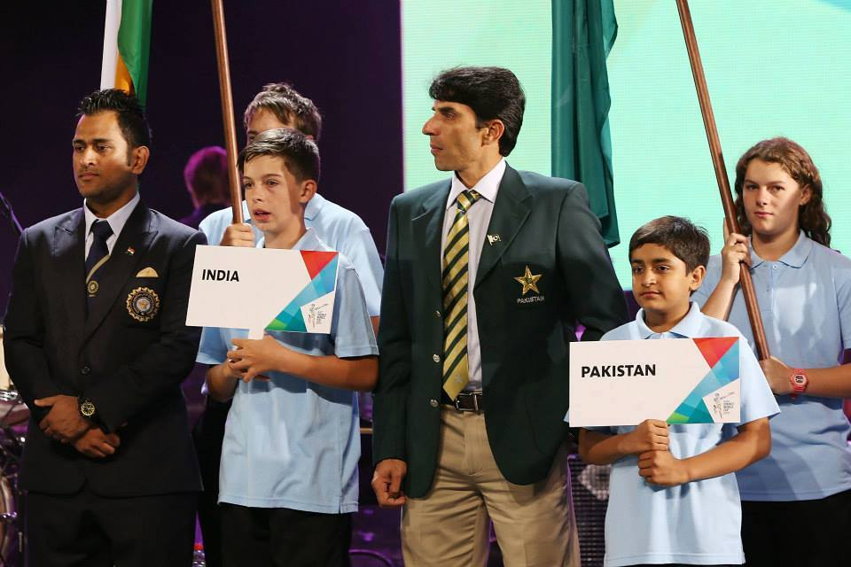 Misbah Ul Haq And MS Dhoni At Opening Ceremony