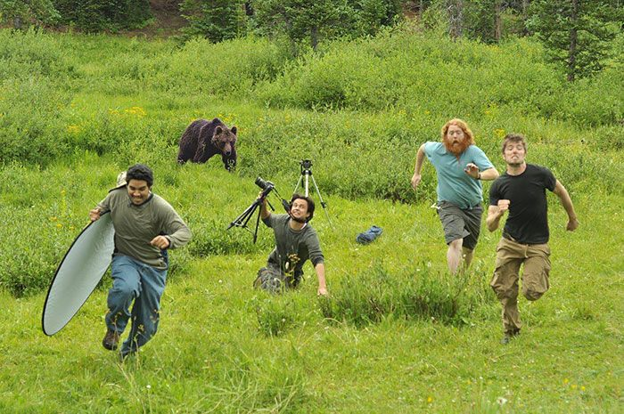 Bear Appears Suddenly During Shot