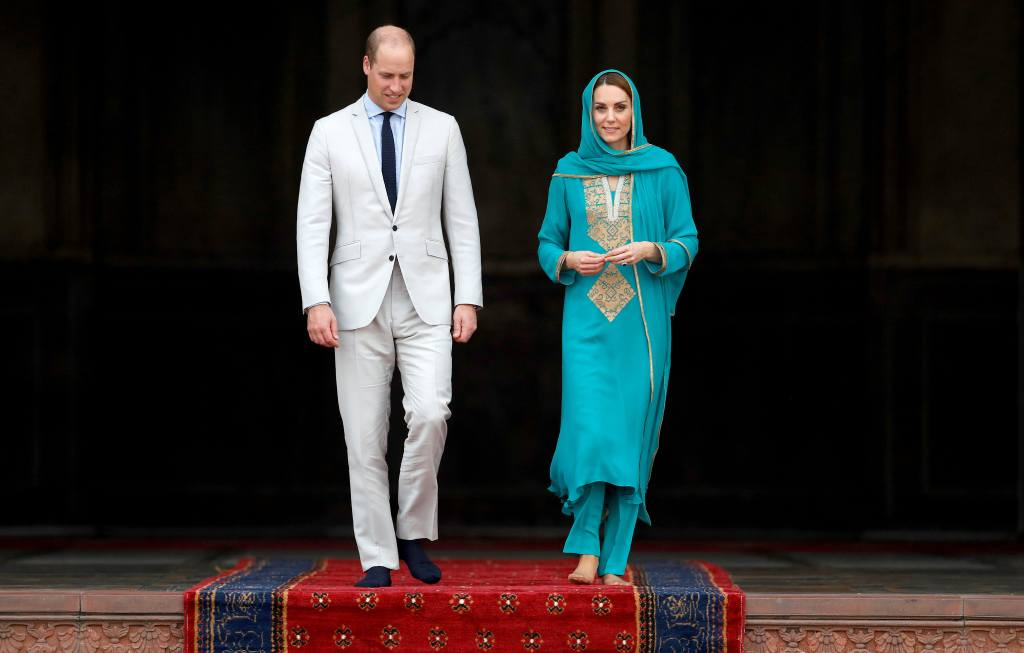 The British Royal Couple Visited Badshahi Masjid On Their Visit To Lahore Today