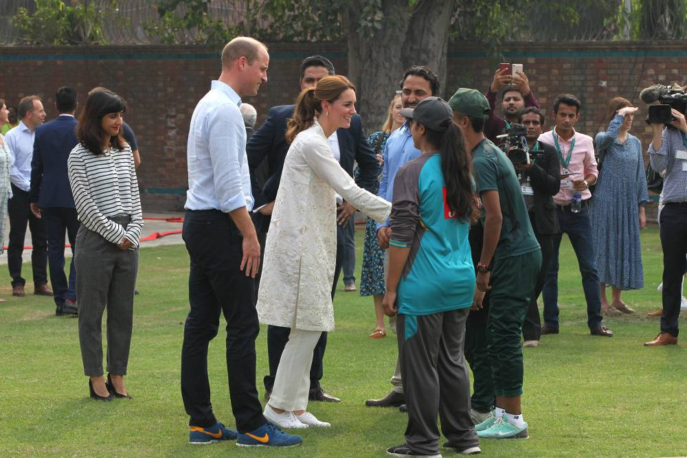 The Duke And Duchess Of Cambridge Are Playing Cricket At NCA Lahore