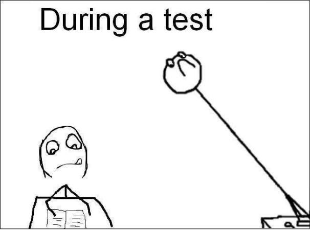 During a test