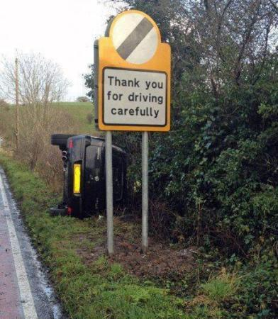 Carefully drive