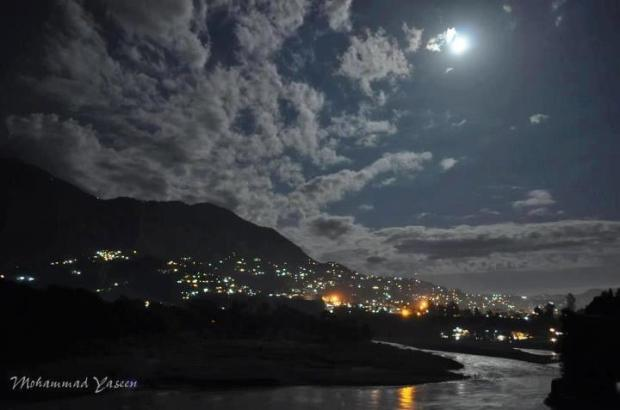 Night view of Muzaffarabad City