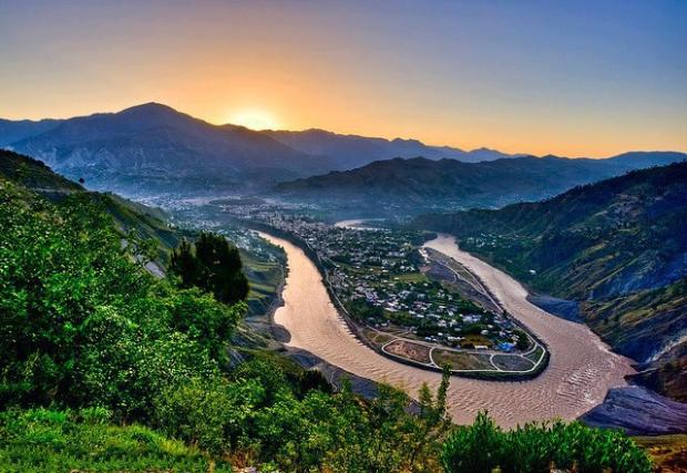 Stunning view of Muzaffarabad city