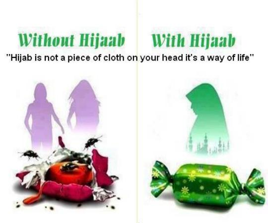 With & Without Hijab