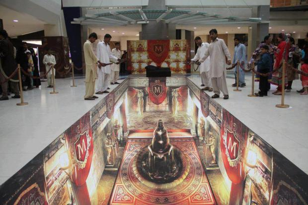 The 3d painting Art exhibition at Dolmen Mall (Clifton), Karachi, Pakistan.