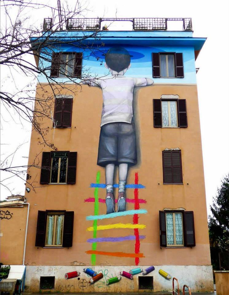 Amazing Wall Art Painting On Building