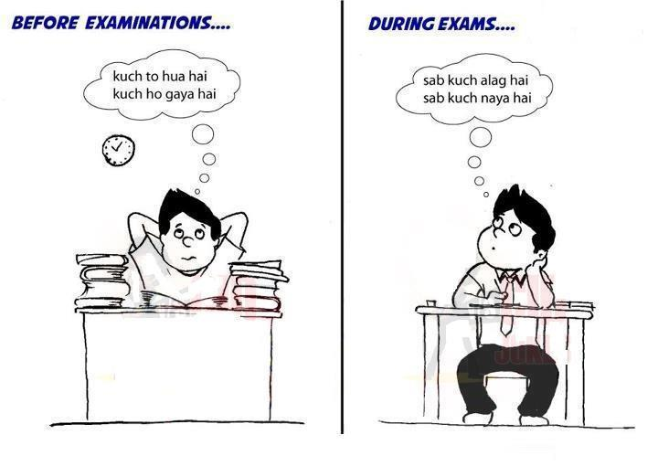 Before and During Exam - Funny Exam Pics : 13 pics