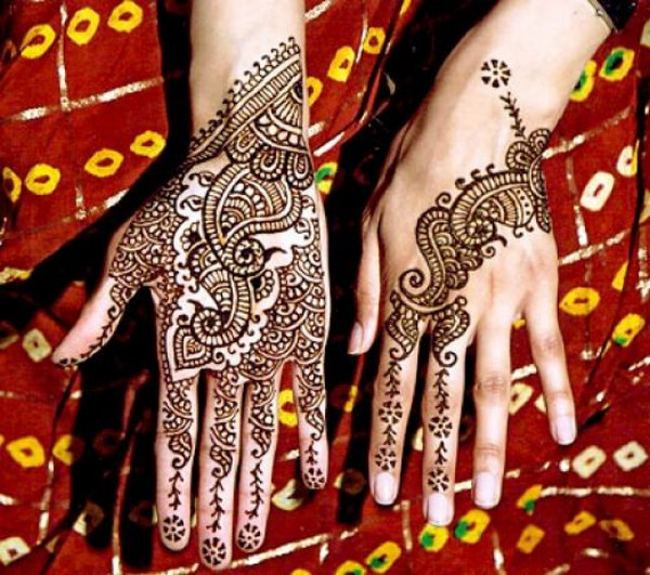 Back And Front Hand Mehndi Latest Mehndi Designs 2014 38 Pics,Simple Ceiling Corner Design With Cement