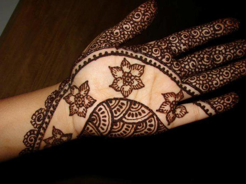 Latest Mehndi Hands : Latest mehandi design back hand video tutorial youtube