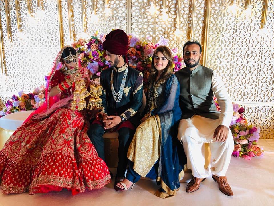 Mr & Mrs Hassan Ali At Their Wedding In Dubai