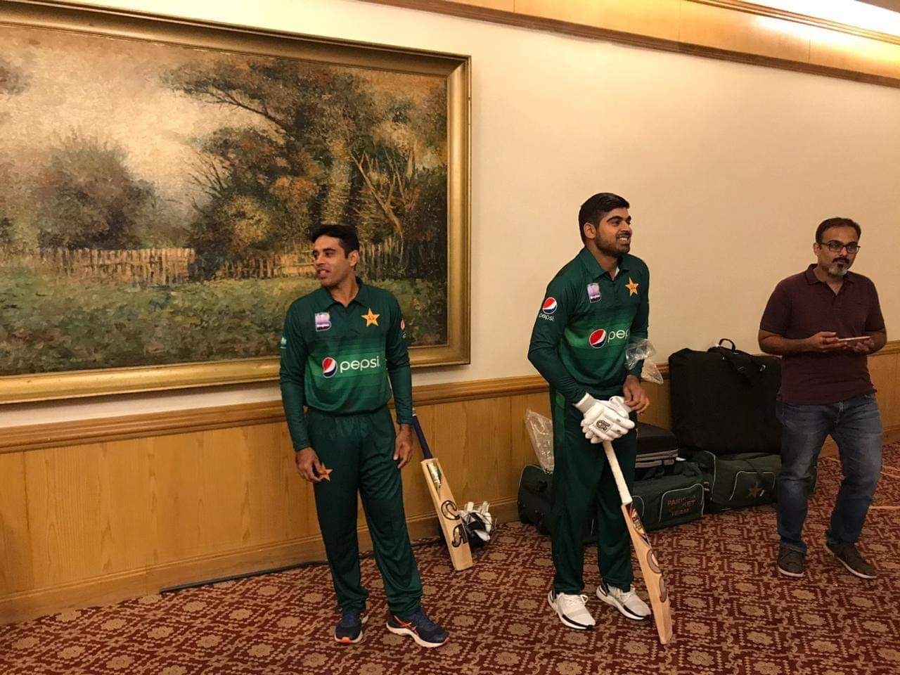 Pakistan & Sri Lanka Players Photo Shoot At Pearl Continental, Karachi