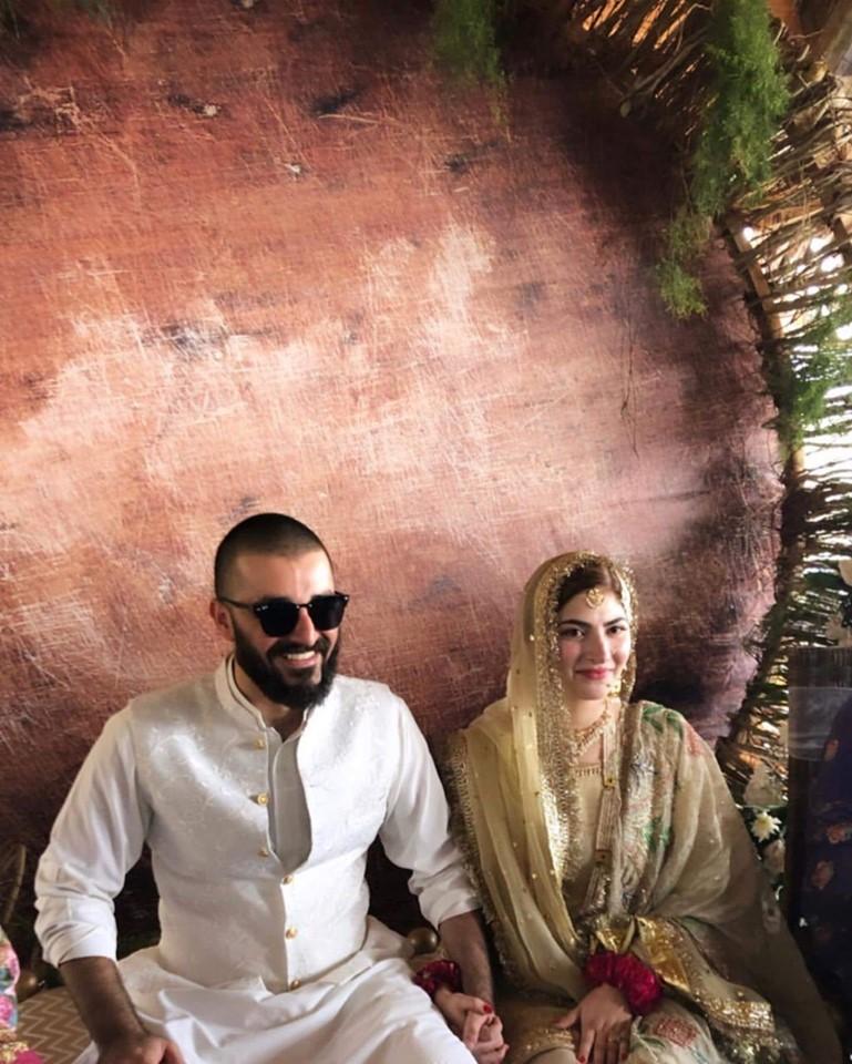 Photos Of Hamza Ali Abbasi & Naimal Khawar Nikahfied At Monal Restaurant, Islamabad