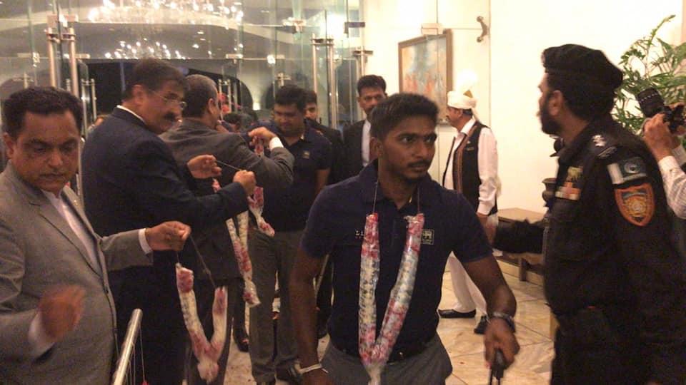Sri Lankan Team Arrives In Karachi To Play ODI Series Against Pakistan
