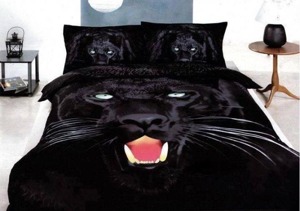 Black Panther Bed Sheet