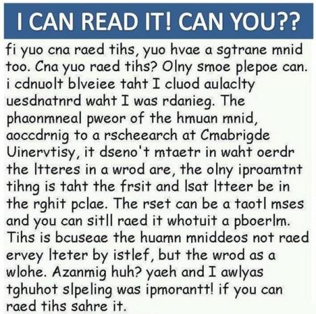 I Can Read It! Can You