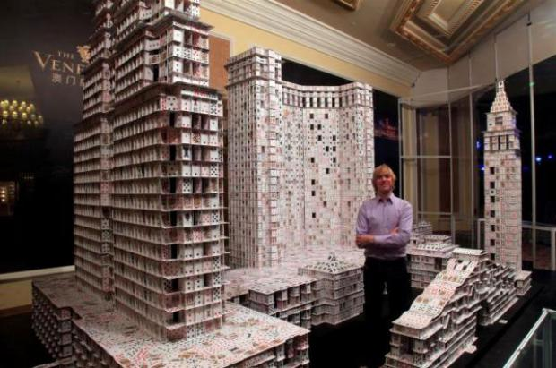 Largest Playing Card Structure