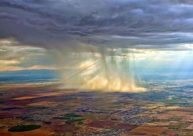 Rains As Seen From An Airplane