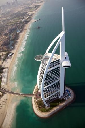 Burj Arab snapped from Helicopter, Dubai