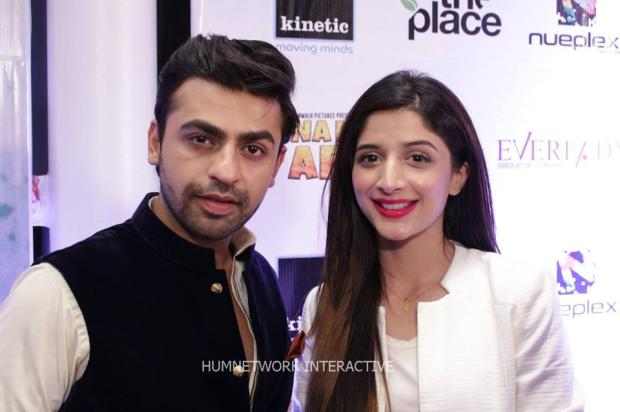 Farhan Saeed And Mawra Hocane At Premiere Of Na Maloom Afraad