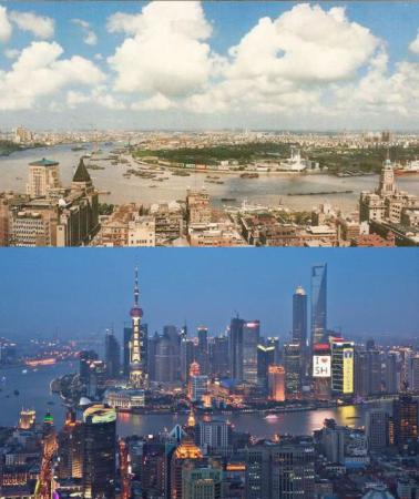 Shanghai in 1990 and 2010
