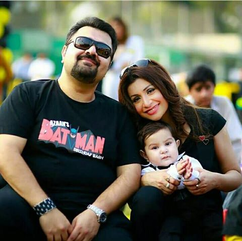 ‪‎Ahmed Butt‬ with his wife & cute son ‪‎Azan