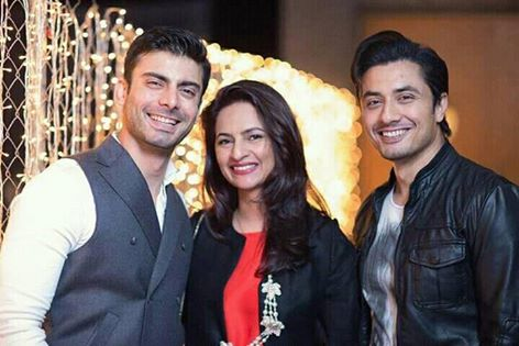 ‎Fawad Khan‬ With His ‪‎Wife‬ & ‪‎Ali Zafar‬