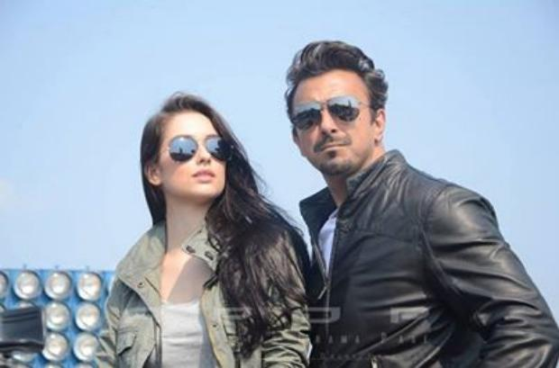 Handsome Shaan Shahid With Brazilian Model On Shoot
