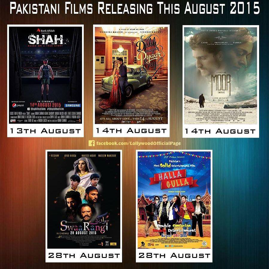 5 Pakistani Films To Release In August