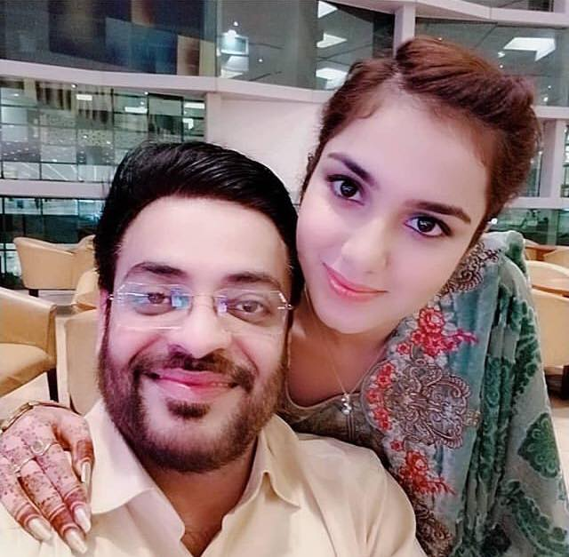 Aamir Liaquat Takes A Selfie With His New Wife