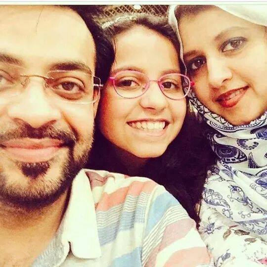 Aamir Liaquat with Wife and Daughter