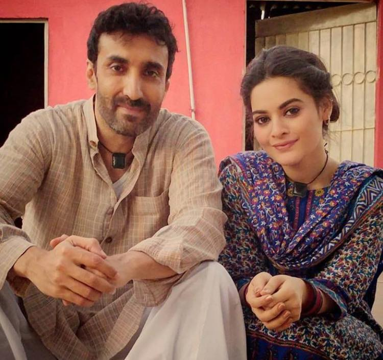 Aamir Qureshi & Minal Khan During Shooting
