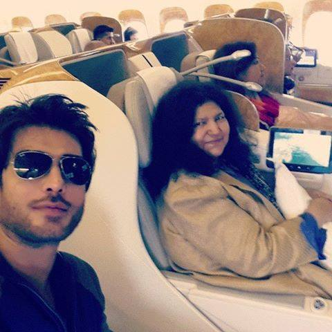 Abida Perveen And Imraan Abbas In Emirates Airline