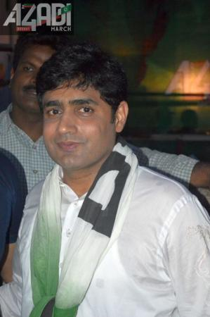 Abrar Ul Haq In Azadi March