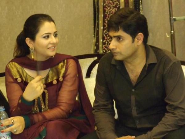 Abrar-ul-Haq with his wife Hareem