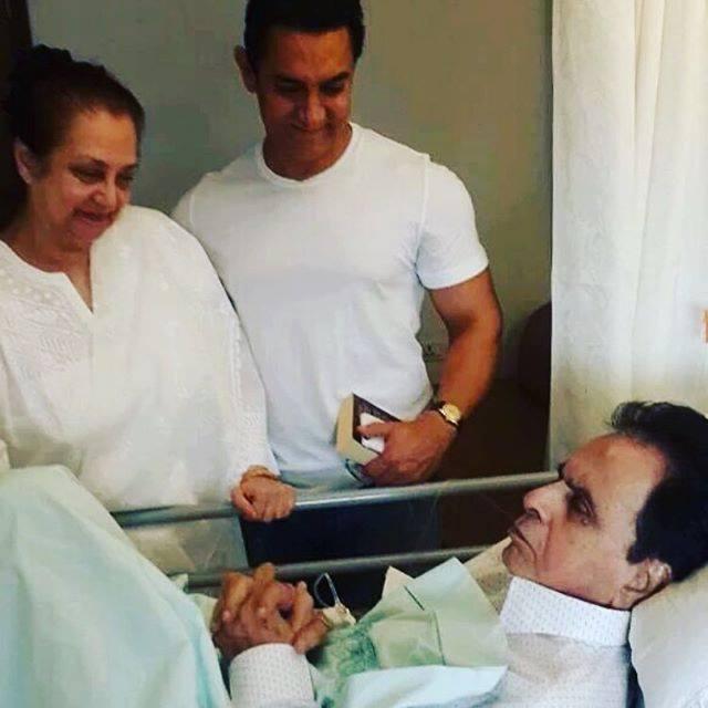 Actor Aamir Khan Visited Hospital To Meet Dilip Kumar