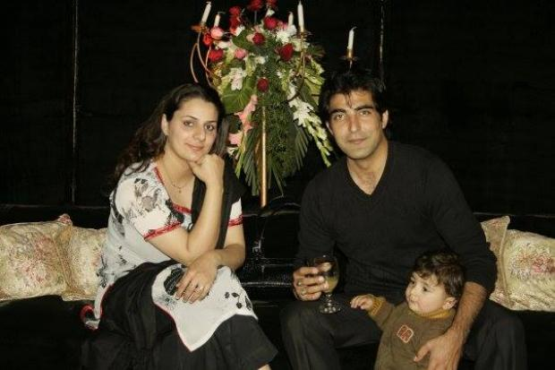 Actor Shamil Khan With Wife And Son
