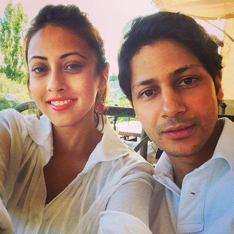 Actress Ainy Jaffri With Her Husband