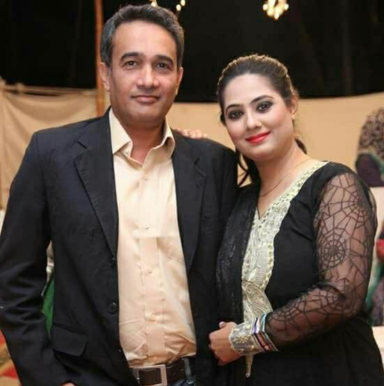 Actress Amber Arshad With Her Husband
