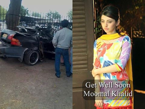 Actress Moomal Khalid Had Car Accident