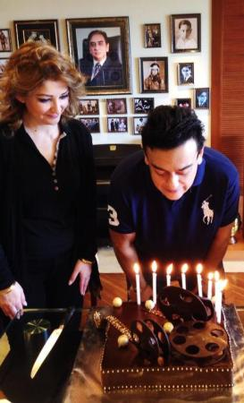 Adnan Sami Khan Celebrating His Birthday With His Wife